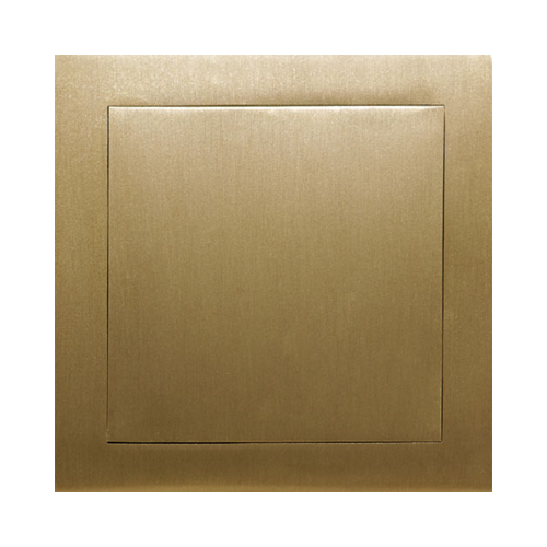 Polished brass revision doors