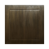 Patinated brass revision doors