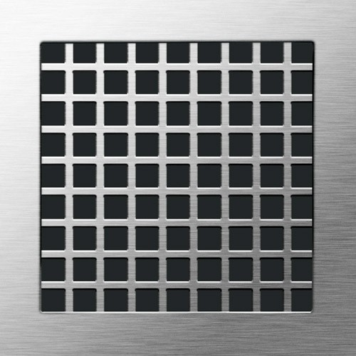 Openwork Square - Grinded Stainless Steel