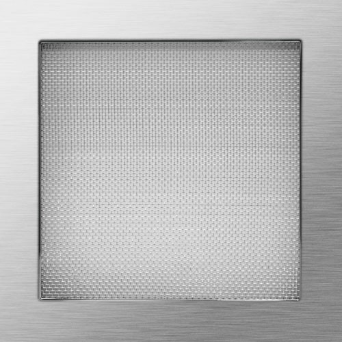 Net square - grinded stainless steel