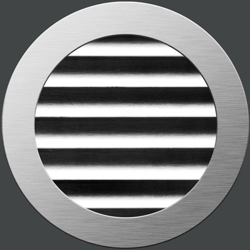 Flat round - grinded stainless steel
