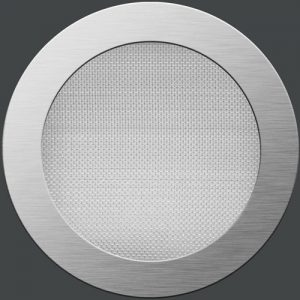 Net round - grinded stainless steel
