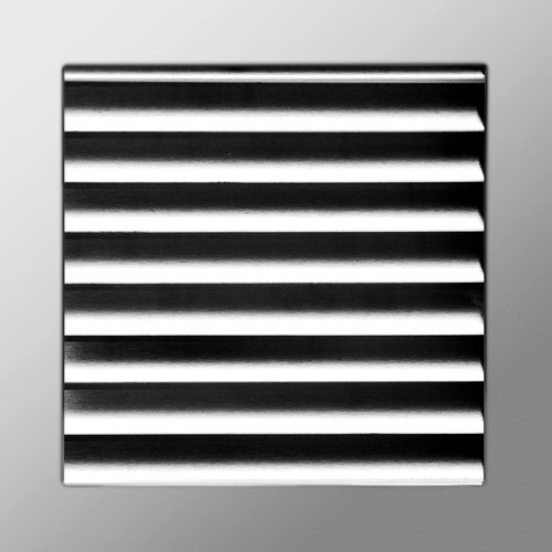 Flat square - polished staineless steel